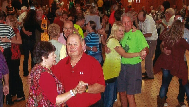 Couples enjoy dancing at the Mayville Pavilion.
