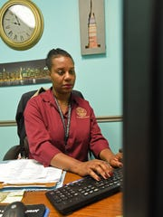 Probation officer Kiyomi Morris at the Caddo Parish