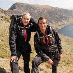 Bear Grylls with Kate Winslet