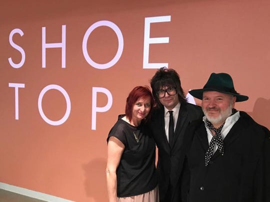 Liza Snook, left, is the co-curator of 'Shoetopia!,'