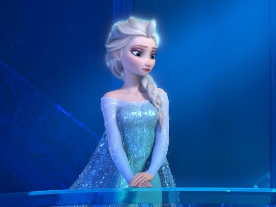 This image released by Disney shows a teenage Elsa