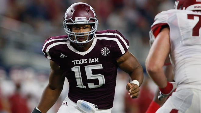 Texas A&M defensive end Myles Garrett is projected as the NFL draft's No. 1 overall pick.