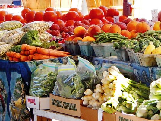 John Garlisch - NMSU Photo   An array of locally grown vegetables.