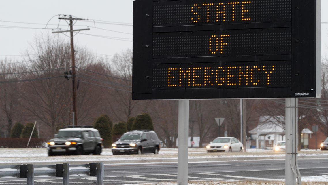 A sign along Route 9 near the border of Howell and