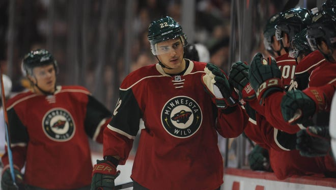 Wild forward Nino Niederreiter scored his first career hat-trick during Thursday's 6-3 drubbing of the Sabres.