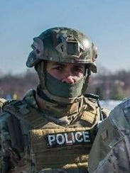 York City Police Officer Alex Sable, 37, suffered a