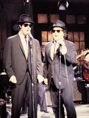 "Dan Aykroyd (left) and John Belushi turned their ""Saturday Night Live"" characters, the Blues Brothers, into a feature-length film in 1979, including one short scene shot in Milwaukee."