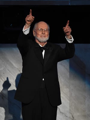 HOLLYWOOD, CA - JUNE 09:  Honoree John Williams speaks onstage during American Film Institute?s 44th Life Achievement Award Gala Tribute to John Williams at Dolby Theatre on June 9, 2016 in Hollywood, California. 26148_004  (Photo by Kevin Winter/Getty Images )