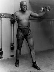 In this 1932 file photo, boxer Jack Johnson work out in New York City.
