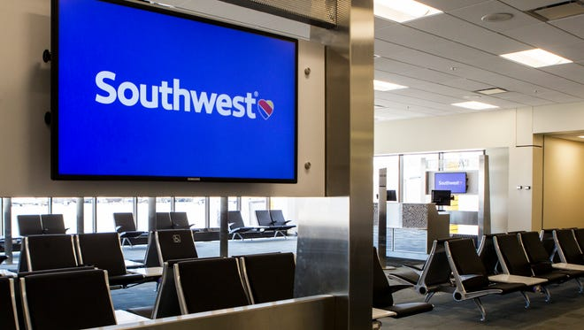 Southwest Airlines welcomes media for a sneak peek at their new gates at Cincinnati/Northern Kentucky International Airport on Thursday, June 1, 2017.