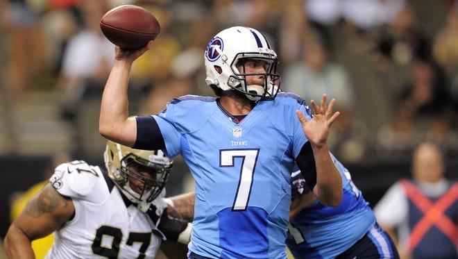 Titans quarterback Zach Mettenberger.