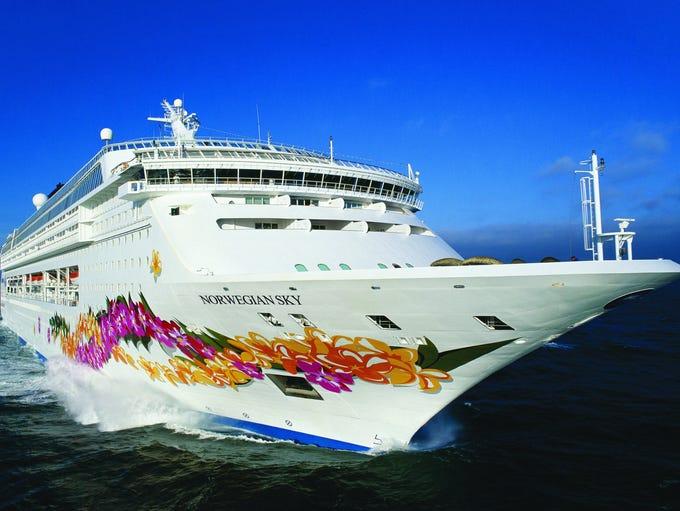 Norwegian Cruise Line's 2,004-passenger Norwegian Sky