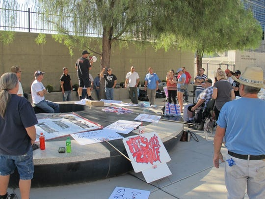 Supporters of defendants in the Bundy Ranch standoff