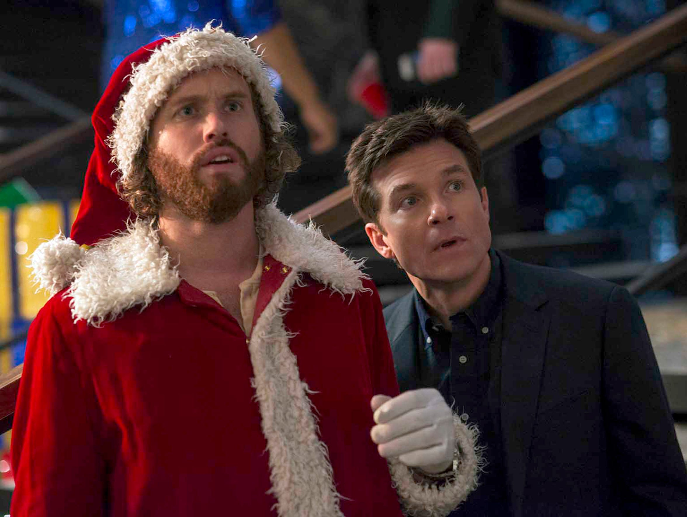 T.J. Miller and Jason Bateman throw a holiday party