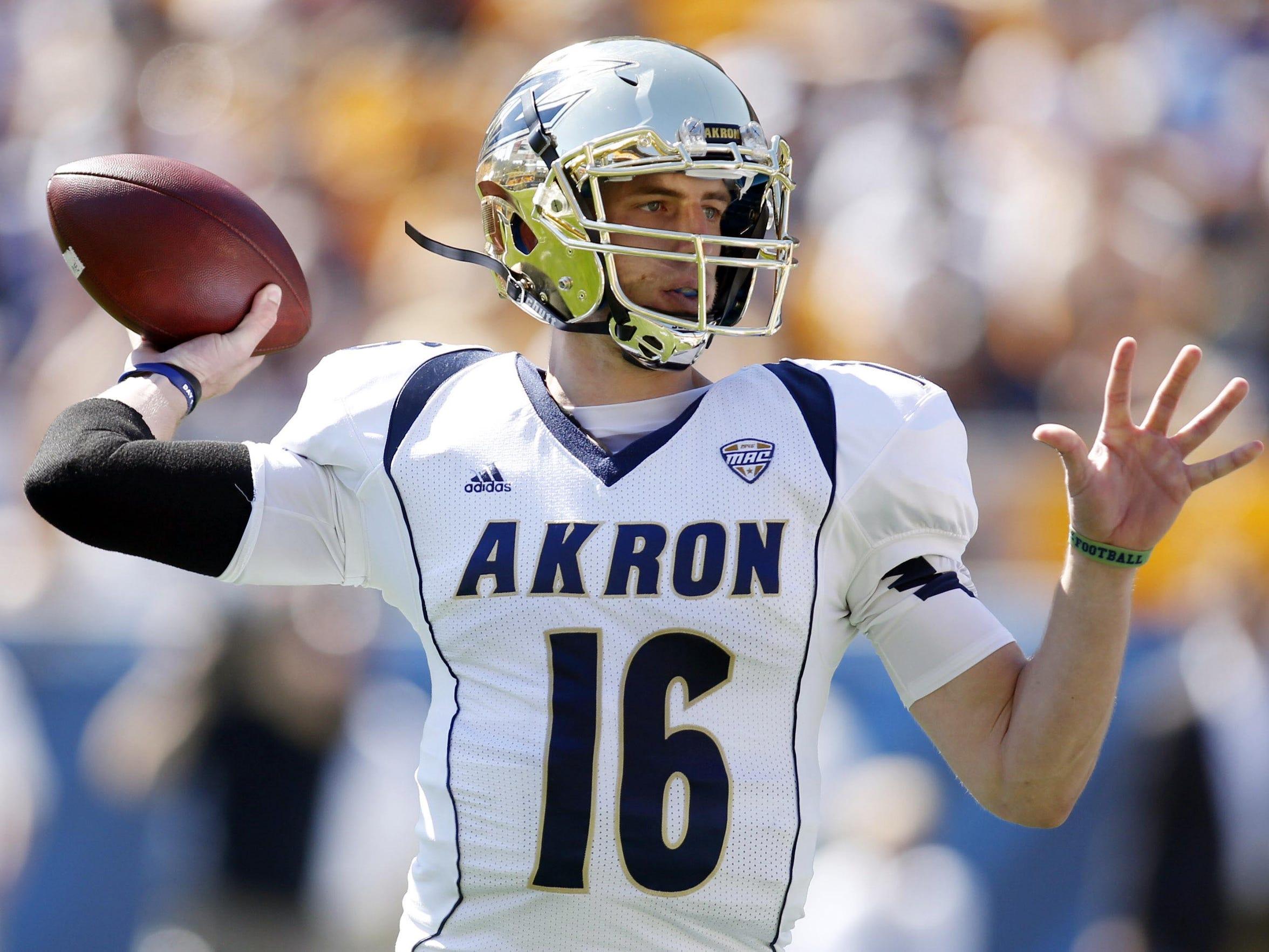 Akron quarterback Kyle Pohl.