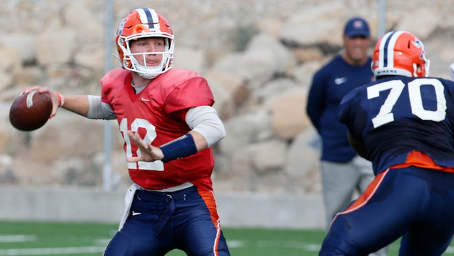 """UTEP quarterback Ryan Metz says, """"Play every snap like it's your last."""" He is established as the Miners' quarterback this season."""