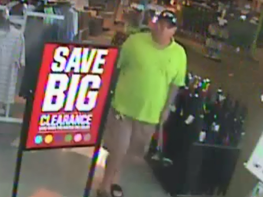 A man walked out of a Gulf Coast Town Center store with three Calloway golf clubs worth $1,500.