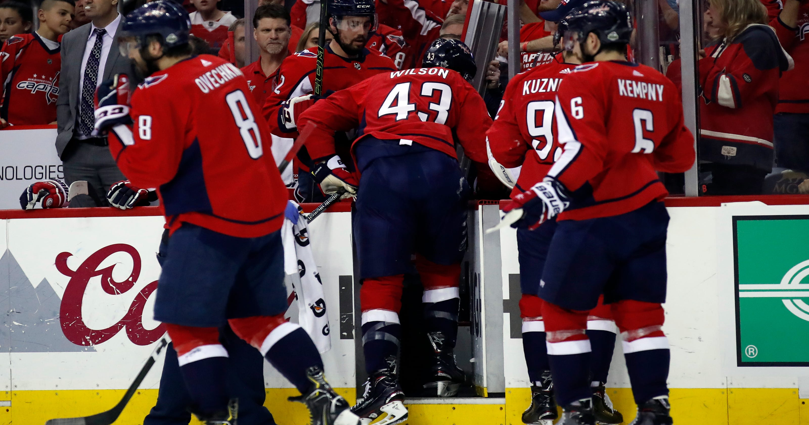 bca4116850b Capitals  Tom WIlson calls out league to review  dangerous  hit against him