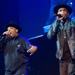 Joseph Simmons, left, and Darryl McDaniels of Run DMC will open for the Red Hot Chili Peppers at the sixth-annual DirecTV Super Saturday Night concert in San Francisco the night before the Super Bowl.