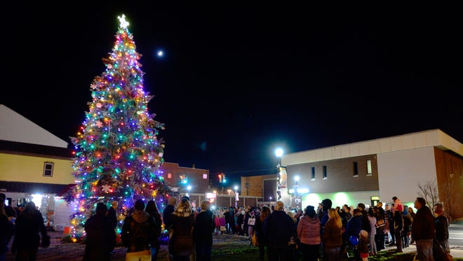 Downtown Fremont Inc. holds its 4th Annual Holly Jolly Tree Lighting at the corner of Front and Croghan streets downtown.