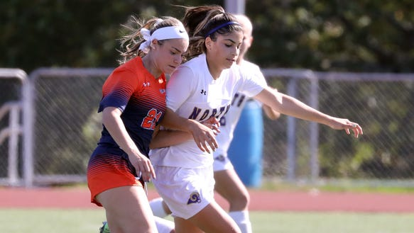 Greeley's Sammi Forster and Clarkstown North's Melissa