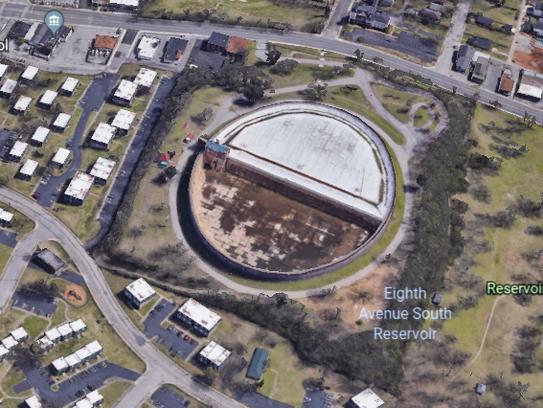 A Google Earth shot of The Reservoir development site