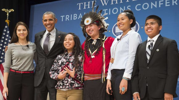 President Obama at the 2015 White House Tribal Nations Conference.