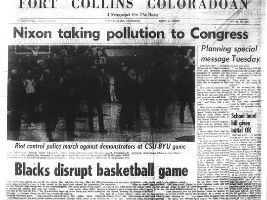 The Coloradoan's front page reporting on protests at