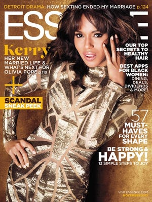 Kerry Washington is golden on the cover of 'Essence.'