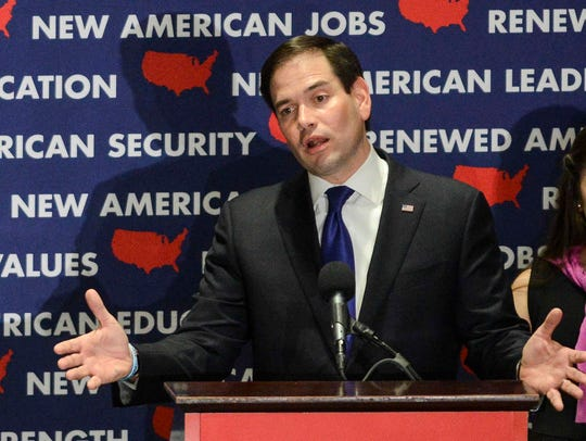 Marco Rubio gives his concession speech at Florida
