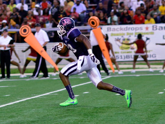 Jackson State receiver Benjy Parrish should play a big role at wide receiver in 2018.