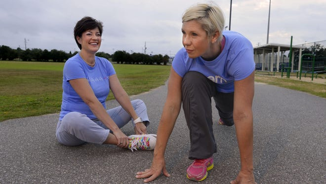 Janet Sallis, left, and Megan McCarthy are forming a local chapter of Girls on the Run, a youth development program for girls.