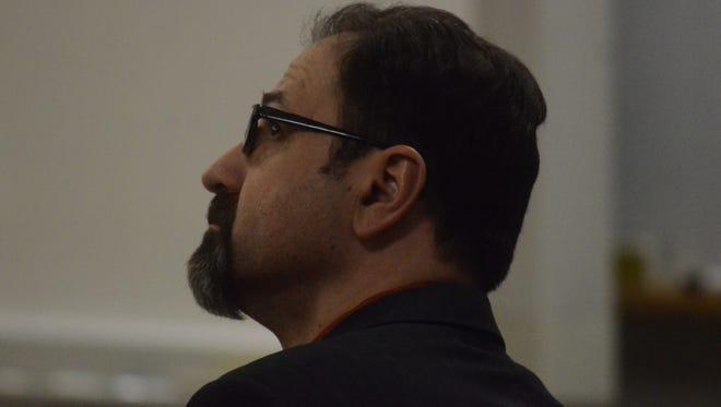 Troy Estree listens to testimony on Wednesday.