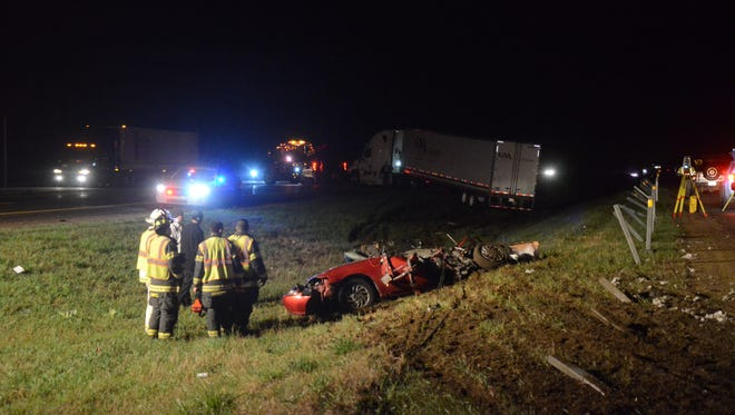 The scene on I-94 following the crash on April 22.