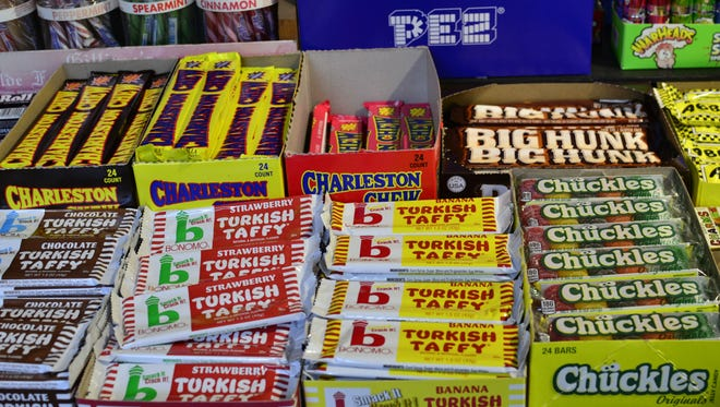 Candy is displayed at Sweet Thing candy store in Burlington on Sunday, Oct. 30, 2016.