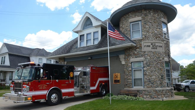 Deep in the neighborhood Station 3 of the Battle Creek Fire Department was built in 1902.