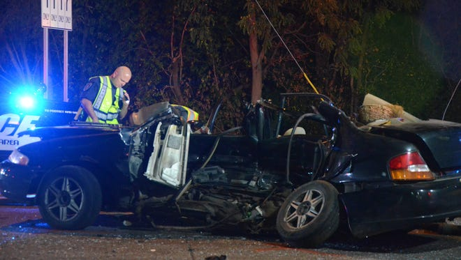 Two people died after their car was stuck in September.