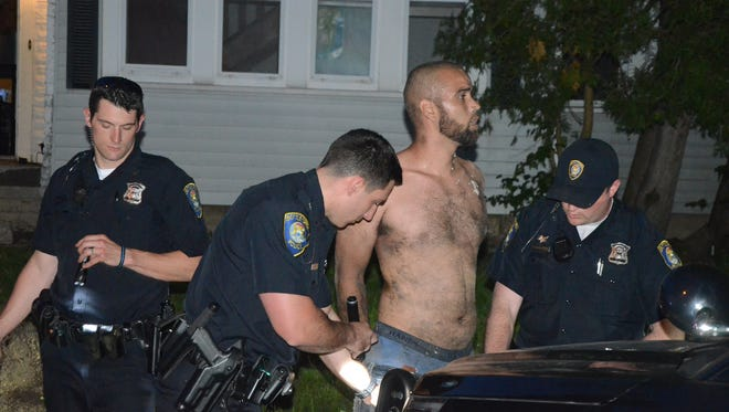 Arthur Moorer was arrested by Battle Creek police after a standoff on Radley Street Thursday, May 24, 2018.