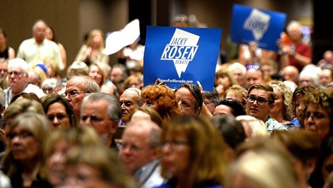 Images taken of the Nevada State Democratic Party Convention held at the Grand Sierra Resort in Reno on June 23, 2018.