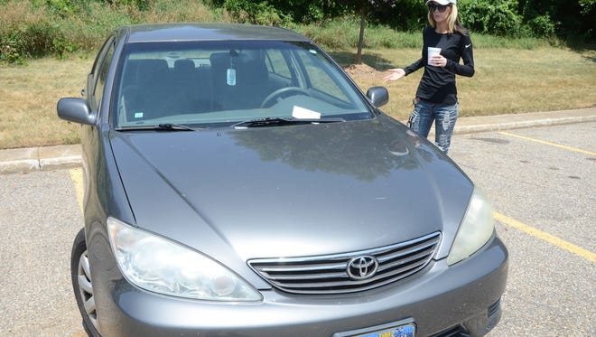 Nicole Banaszewski had her car stolen from in front of her Emmett Township apartment.