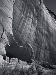 White House Ruin,  Canyon de Chelly National Monument, Arizona, 1942.  Photograph by Ansel Adams. Image courtesy of Collection Center for Creative Photography,  University of Arizona.  ©The Ansel Adams  Publishing Rights Trust