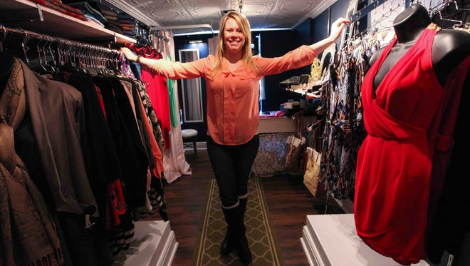 Emily Duran inside her mobile Passionista Fashion Truck, from which she sells apparel and accessories.