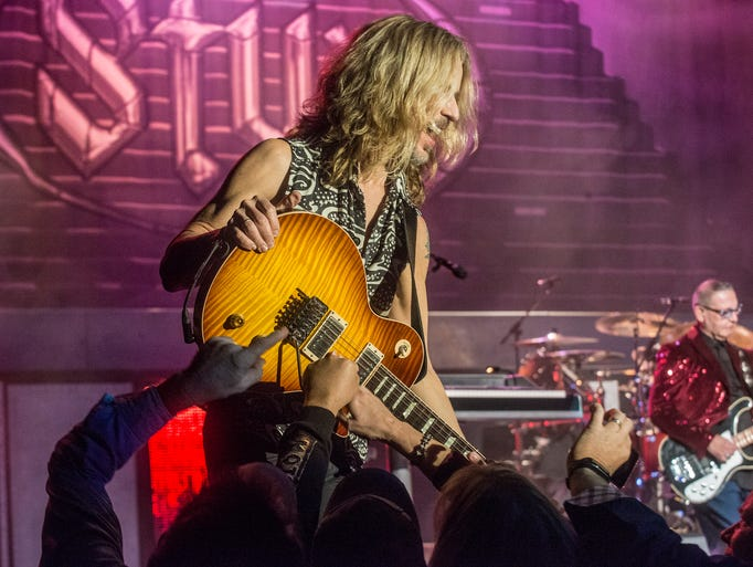 Tommy Shaw of Styx performs Thursday, March 2, 2017,