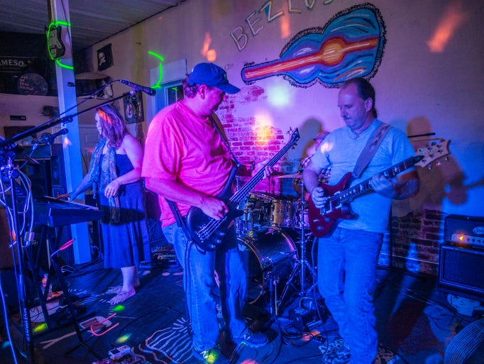 The band Shades of Gray performs recently at Bezlo's