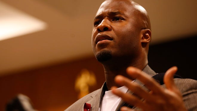 Devard Darling speaks in 2016 about his identical twin brother, Devaughn Darling, who died during an off-season workout as a member of the FSU football team in 2001. Darling will speak at a symposium on sickle cell on April 16.