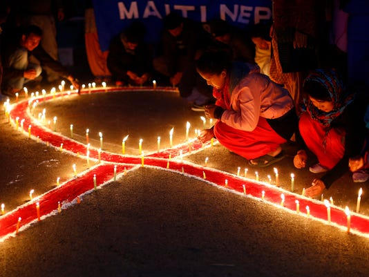 EPA NEPAL WORLD AIDS DAY 2014 HTH DISEASE DISEASES NPL