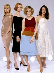 """Sex and the City"" days: Kim Cattrall, Cynthia Nixon, Sarah Jessica Parker and Kristin Davis."