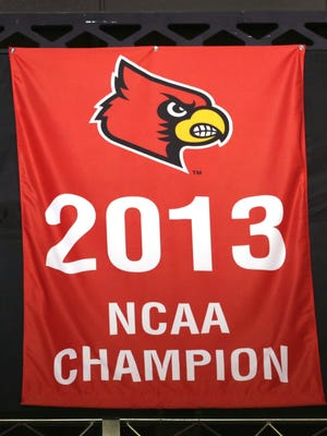 Louisville's 2013 NCAA National Championship banner.