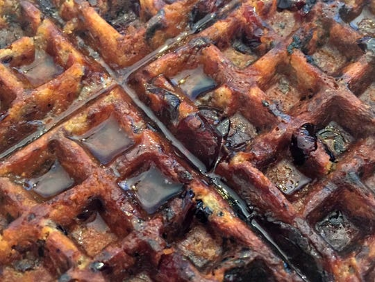 Leftover dressing can be turned into a delicious waffle