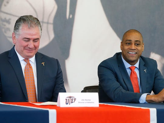 Rodney Terry was named the 19th head coach at UTEP Wednesday afternoon by Director of Athletics Jim Senter in a packed Foster-Stevens Basketbal Center. Terry comes to UTEP form Fresno State after serving as their head coach for the past seven seasons, leaving there with a record of 126-108.